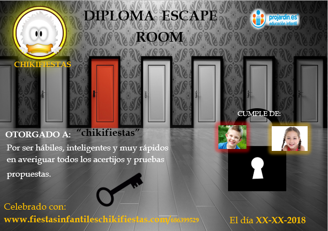 Escape - Temático ESCAPE ROOM ( a partir de 9-10 años)