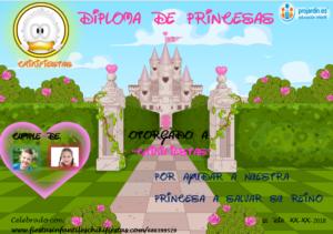 Diploma tipo de princesas