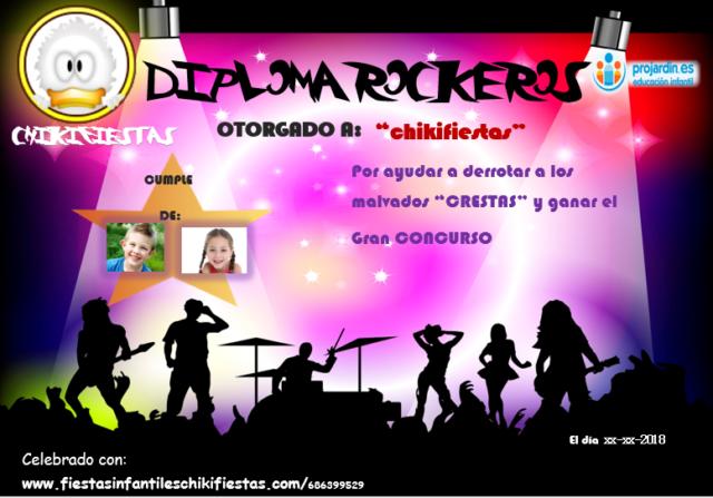 Diploma Rockeros