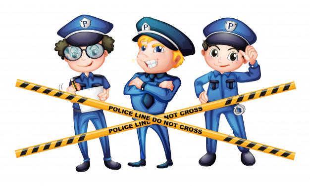 tres policias escena crimen 1308 28822 - Temático de policias