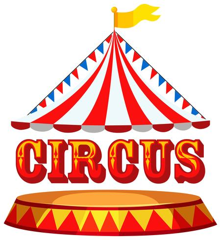 vector circus tent concept with text - temático  del Circo