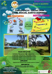 CARTEL Club Social Santo Domingo 211x300 - Campamentos VERANO 2020