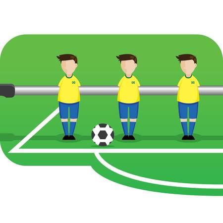 28389558 ilustración de dibujos animados equipo futbolín brasil - Torneo futbolín y billar
