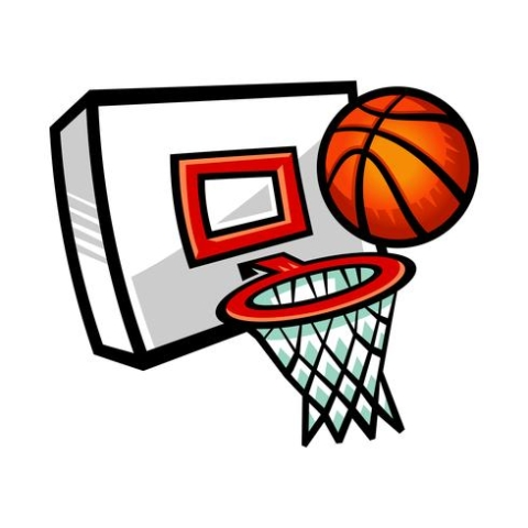 cartoon-vector-basketball-and-net