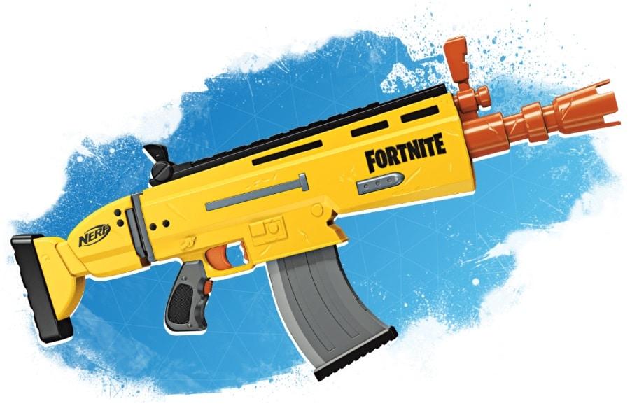 fortnite nerf gun 1 - batalla FORNITE nerf