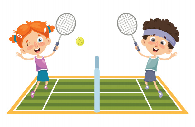 vector illustration kid playing tennis 29937 1678 - Tenis o Padel