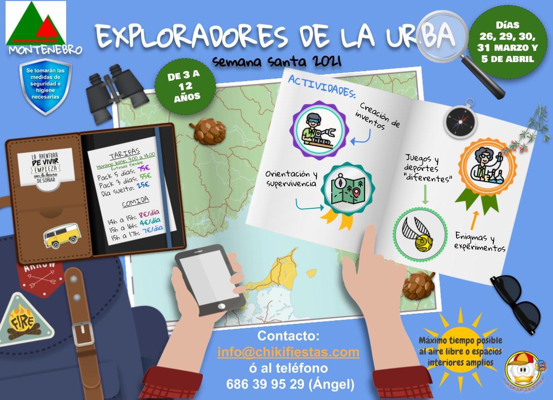 EXPLORADORES DE LA URBA - Campamentos SEMANA SANTA 2021
