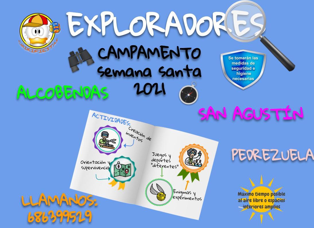 Exploradores del club - Campamentos SEMANA SANTA 2021
