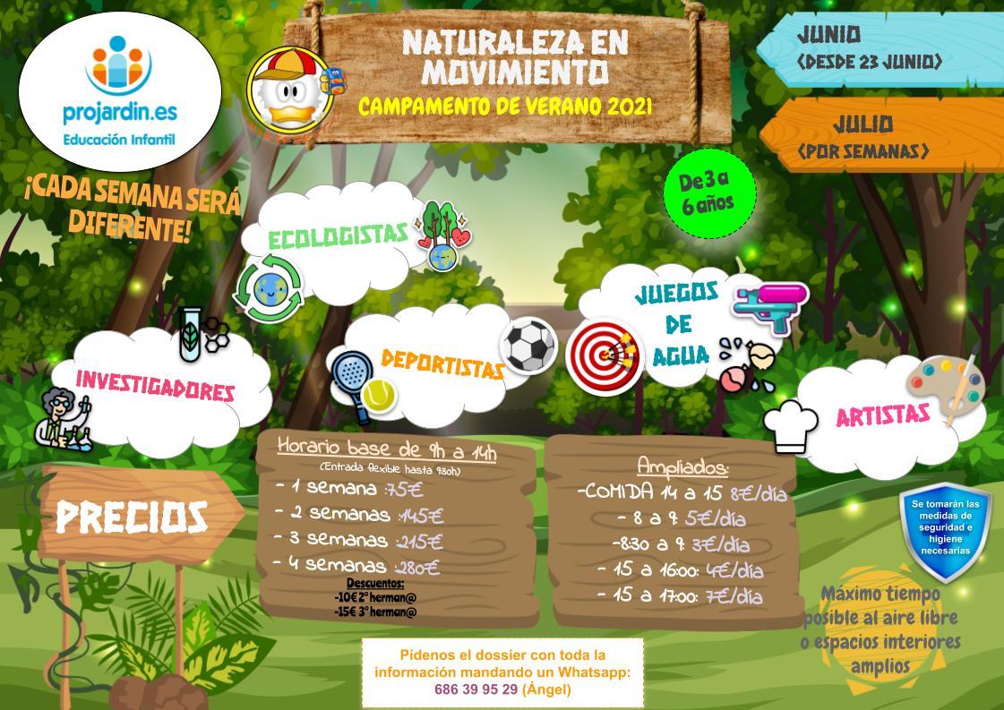 INFO CAMPAS PROJARDIN 3 - Campamentos VERANO 2021